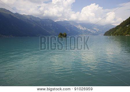 Small island in the lake, Interlaken, Switzerland