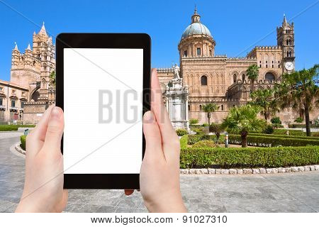 Tourist Photographs Of Cathedral Of Palermo Sicily