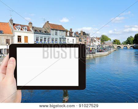 Tourist Photographs Of Quai Belu In Amiens City