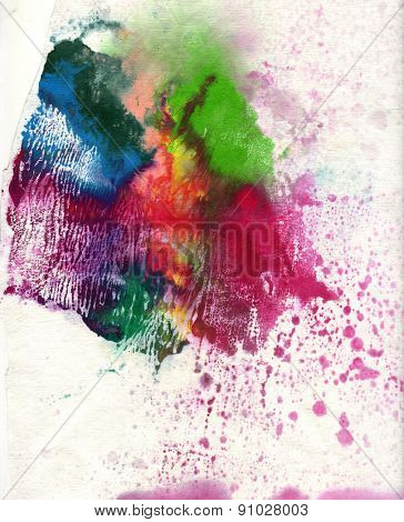 abstract watercolor splash on background