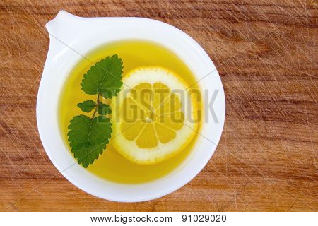 lemon balm tea  cup