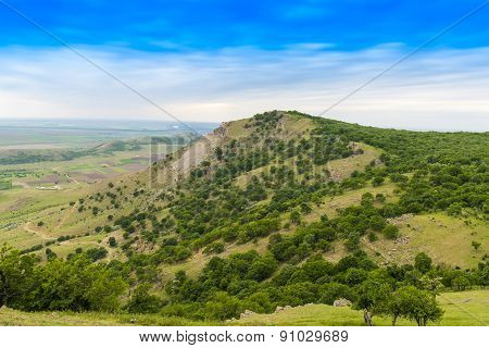 Summer landscape in Macin Mountains, Romania