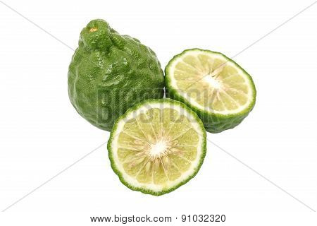 Bergamot Slice Herb Fresh Ingredient Food Tom Yam Isolated