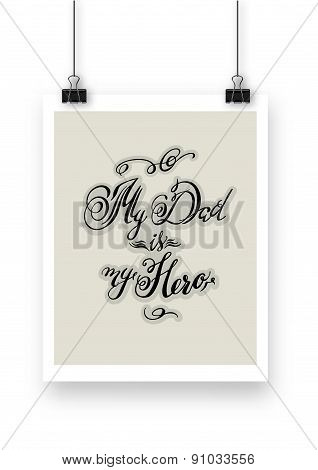 Calligraphic Hand Drawn Watercolor Lettering Vector Poster.