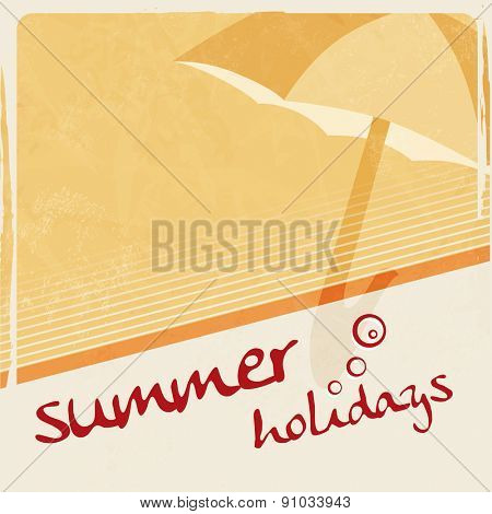 Yellow summertime background - summer holidays