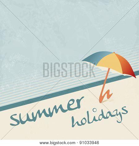 Retro summer holiday background 50s