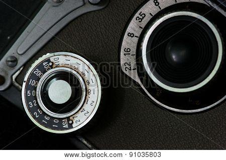 Vintage photo camera dials
