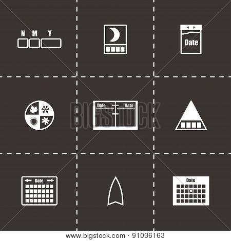 Vector Calendar icon set