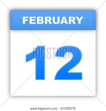 February 12. Day on the calendar. 3d