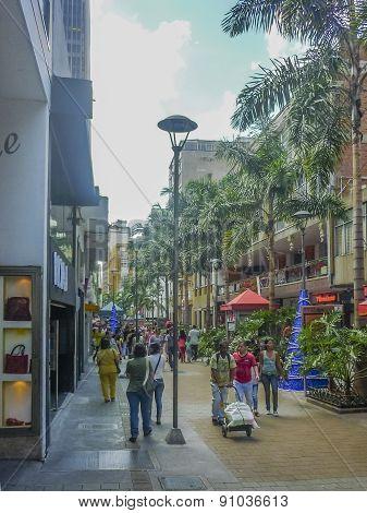 Medellin Day Urban Scene