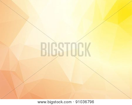 Pastel Pink Yellow Triangular Background