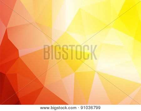 Bright Red Yellow Triangular Background