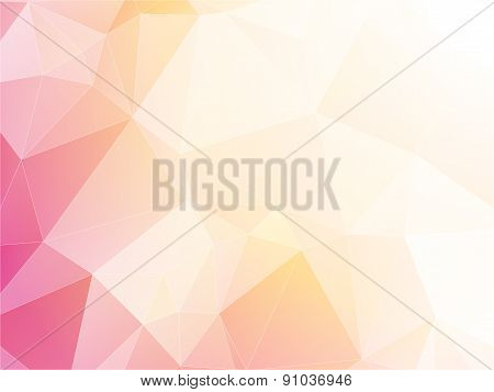 Modern Light Pastel Triangular Background