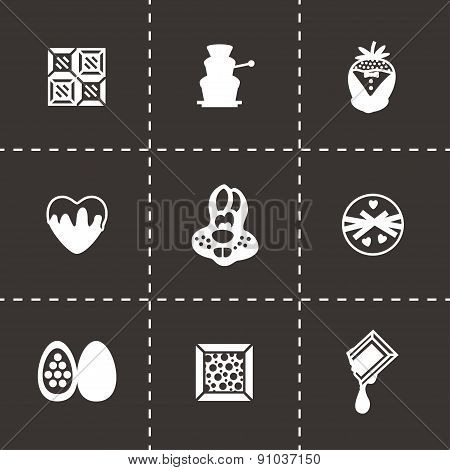 Vector Chocolate icon set