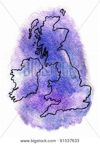 United Kingdom Vector Map Illustration
