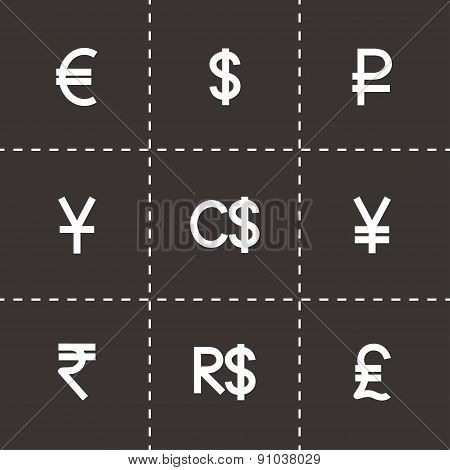 Vector Currency symbol icon set
