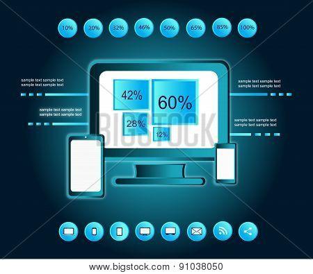 Infographic Computer Element Black