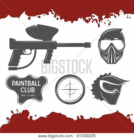 Paintball design elements