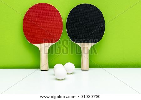Pair Of Ping-pong Rackets
