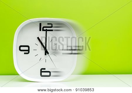 Time Concept White Clock