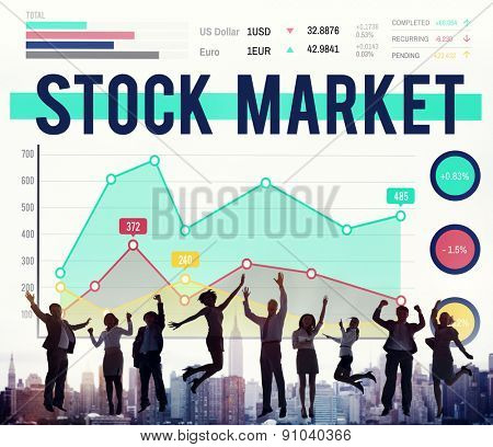 Stock Market Economy Finance Forex Shares Concept