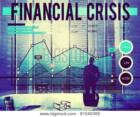 Financial Crisis Economics Banking Accounting Concept