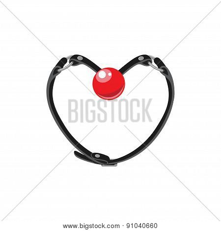Adult bdsm toy in a form of heart