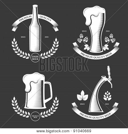 Beer vintage labels.