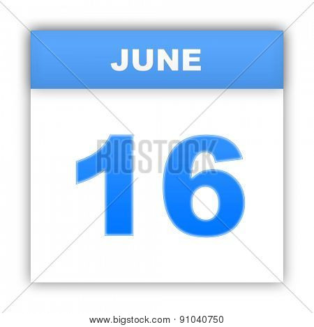 June 16. Day on the calendar. 3d