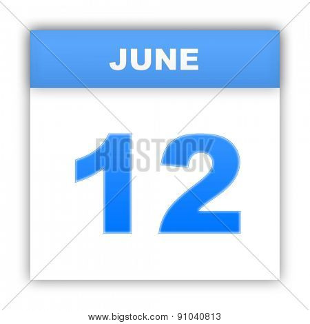 June 12. Day on the calendar. 3d