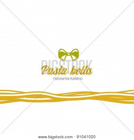 Logo for italian food restaurant.