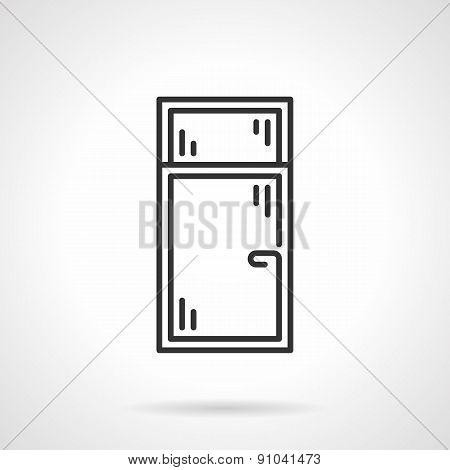 Black line vector icon for window
