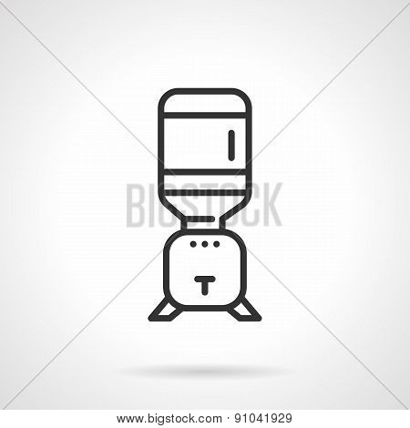 Flat line cooler vector icon