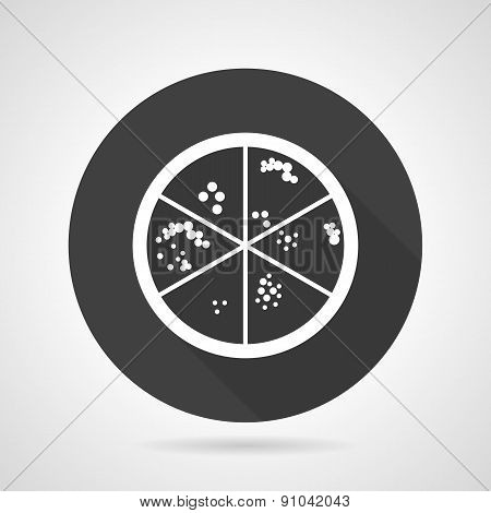 Bacteria colonies black round vector icon