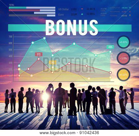 Bonus Gain Profit Business Marketing Concept