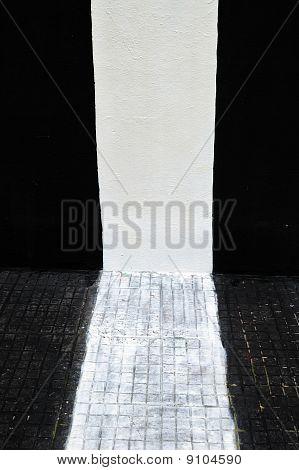 Striped Sidewalk