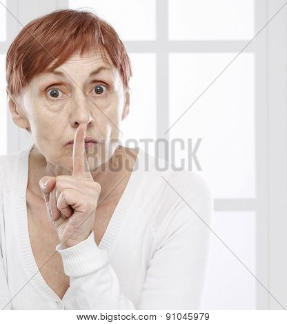 Sixty years woman  wants silence
