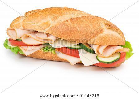 ham and vegetables sandwich
