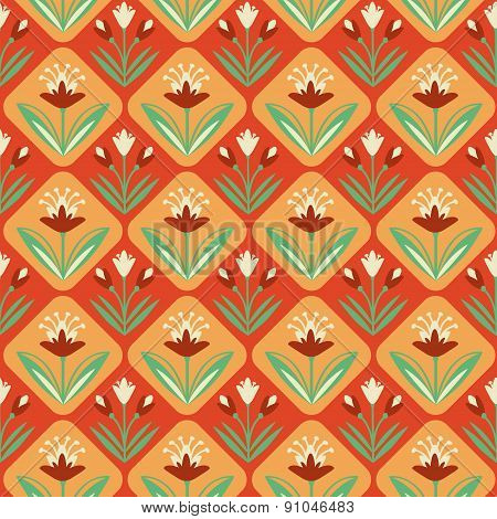 Vintage seamless Pattern with floral ornament