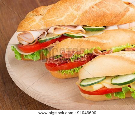 sandwiches on chopping board