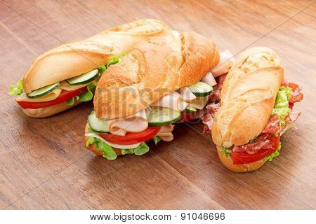 sandwiches with savory fillings