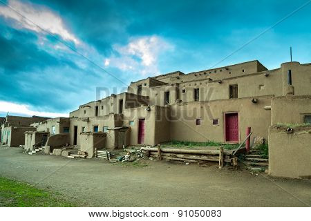 Taos Pueblo - Adobe Settlements Of Native Americans.