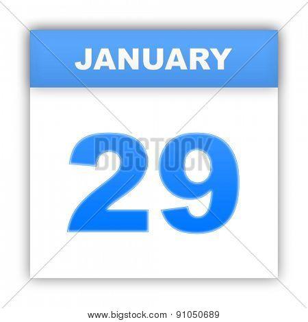 January 29. Day on the calendar. 3d