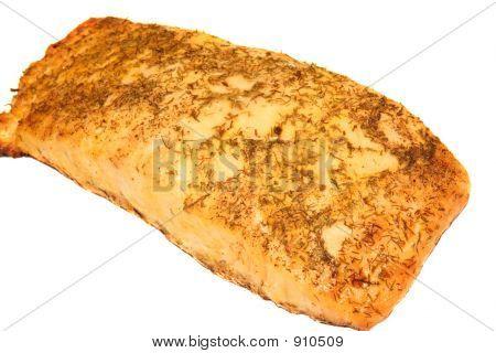 Salmon Filet On White Background