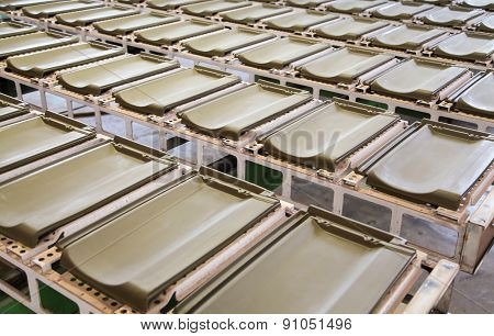 Roof Tiles In Factory