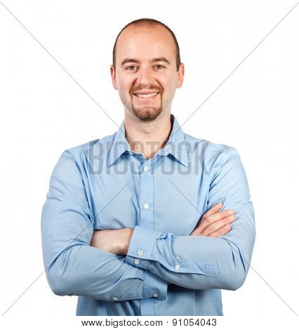 portrait of smiling isolated businessman