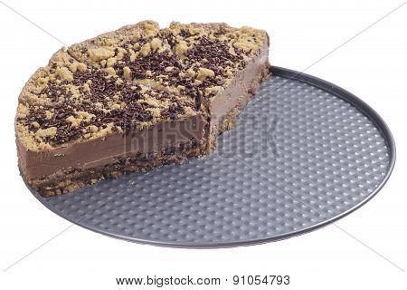 Half Sliced Chocolate Cheesecake