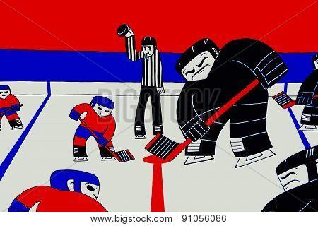 Street art Montreal hockey players