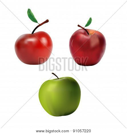 Set of apples vector illustration
