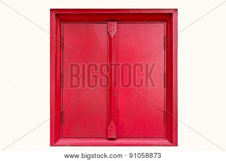 Red Window Isolated On White Background